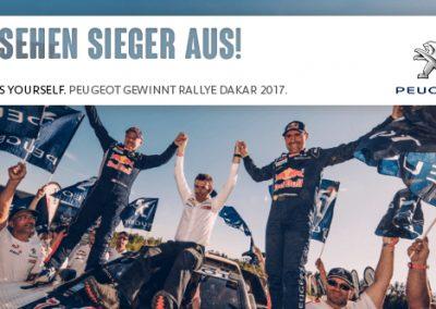 Peugeot holt Dreifachsieg bei der Ralley Dakar